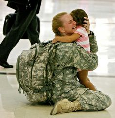 Coming Home or Going Away? There's a mix of emotions when imagining one over the other. What a respect I have for these men and women in the service.