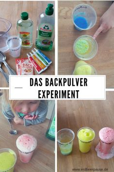 The baking powder experiment - bad weather program for children - strawberry break, Children love experiments! The baking powder experiment works with ingredients that are available in every household. Kid Science, Milk Science Experiment, Water Science Experiments, Science Activities, Activities For Kids, Science Nature, Science Fiction, Science Projects For Kids, Kids Crafts
