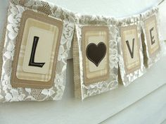 burlap and lace!