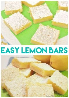 Easy Lemon Bars ~ Butter With A Side of Bread