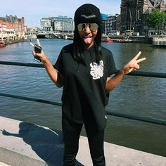 "@theyasminbenoit who's currently celebrating in Amsterdam wearing our CRMC X @miri_arake ""Cada Dia Mas"" Unisex Sleeveless hood - available at www.crmc-clothing.co.uk | WE SHIP WORLDWIDE WORLDWIDE #birthday #alternative #happybirthday #amsterdam #birthdayfun #loveamsterdam #instastyle #stylegram #alternativemodel #thighhighsocks #alternativeblackgirl #blackmodel #summerlove #summer #birthdaygirl #summerwear #fashionoftheday #dailyfashion #styles #style #alternativegirl #alternativeteen"