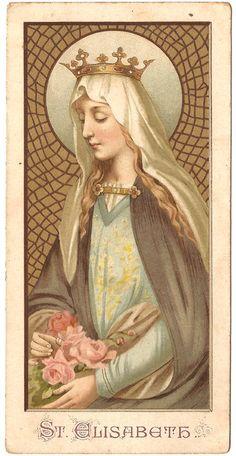 St. Elizabeth in Gold Crown Antique Vintage by 12StarsVintage