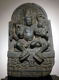 Brahma and Brahmini, Pala art from Bengal
