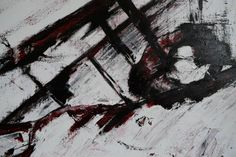 Abstract Art. Black and Red figurative Painting. by Drexllstudios