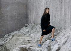 Tibi Fall 2014 campaign (shot at Stony Creek Quarry, Branford, Connecticut)