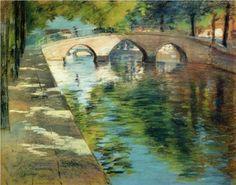Reflections (aka Canal Scene) - William Merritt Chase