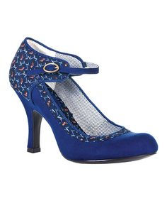 Ruby Shoo Electric Blue Rachel. Love the colour but heels to high for me.