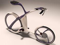 3d bicycle futuristic design model - Futuristic bicycle design by affadn
