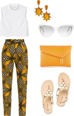 """Have a walk"" by sofiaboesso on Polyvore~African fashion, Ankara, kitenge, African women dresses, African prints, Braids, Nigerian wedding, Ghanaian fashion, African wedding ~DKK"