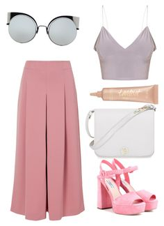 """my style"" by lana-fo ❤ liked on Polyvore featuring Fendi, TIBI, tarte, Furla and Prada"