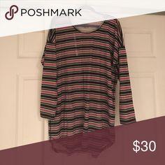 💕New Listing💕 VS Nightshirt Black and pink striped Victoria Secret nightshirt Victoria's Secret Intimates & Sleepwear Pajamas