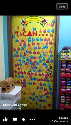 Tracking student success! I CAN... door decoration
