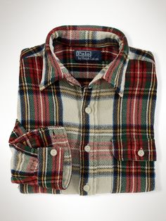 Plaid Work Shirt by Polo Ralph Lauren. How sick would it be to wear this on Christmas?