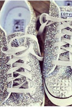 56d29bb81ffa Sparkly Converse  Someone please get me these!!!! Studded Converse