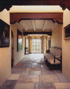 santa fe style entry.     Love the floor