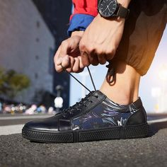 c8e1d19cdb79e BIMUDUIYU New Brand Leather Casual Shoes Men Lace Up Fashion Sneakers  Breathable Designer Shoes Rubber Sole Non-slip Footwear