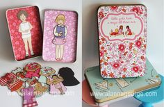 Magnetic paper dolls. Would be great in shoeboxes for Operation Christmas Child!