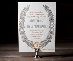 Rustic Jolene Letterpress Wedding Stationery from Bella Figura
