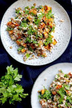 Superfoods, Fried Rice, Feta, Fries, Food Porn, Vegetarian, Salad, Ethnic Recipes, Super Foods