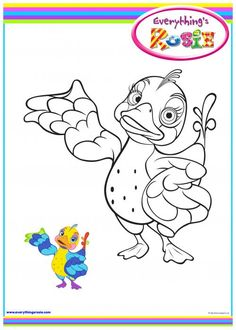 everythings rosie coloring book pages - photo#13