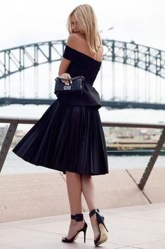 need: a classic off-the-shoulder little black dress