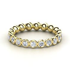 Pod Eternity Band, Yellow Gold Ring with Diamond from Gemvara