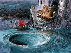 """Odysseus and his crew had to pass either through scylla and charybdis.    -Through out our lives, we will encounter situations in which we will have to chose between losing something we need (going through Charybdis) or lose people we know or like (going through Scylla).    - In my life i had to chose """"going through Scylla"""", beacause I decided to leave my country and lost many friends."""