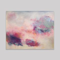 "Tis the season for pink paintings. Towards a lightness of being, 60 x 48"" oil on canvas. Original abstract painting by Sharon Kingston"