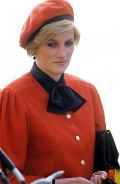 Princess Diana in Southampton to christen the P&O cruise ship, 'Royal Princess', 15th November 1984.