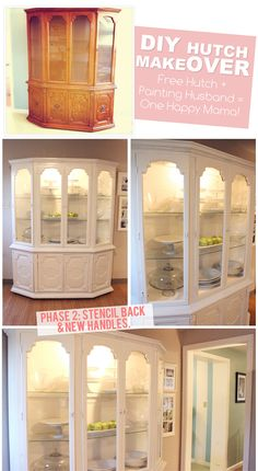 The Busy Budgeting Mama: Our DIY Hutch Makeover - I need to see more things like this, I might otherwise pass over things like this on Kijiji, but it looks amazing painted!
