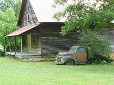 Abandoned country general store as an old friend is decaying beside it.  East of Elijay, GA. - Wainscott photo