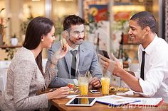 People At Lunch Royalty Free Stock Images - Image: 13140969