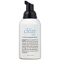 philosophy on a clear day oil-free foaming acne cleanser