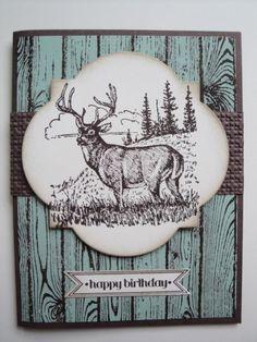 DEER BIRTHDAY Card Kit (4 cards lot) Stampin up, masculine, men, hunting