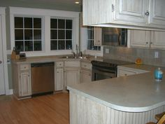 white wash kitchen cabinets  | Oak Cabinets with a New Face - Glazed Cabinets are Beautiful