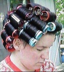 Hair roller fetish 7