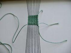 Woven Bracelet : 8 Steps (with Pictures) - Instructables Fabric Bracelets, Woven Bracelets, Fabric Jewelry, Handmade Bracelets, Straight Weave, Types Of Weaving, Overhand Knot, Daisy Bracelet, Sliding Knot
