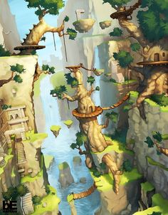 Great illustration style. Reminds me of Zelda.   2D – Pro « Corentin Chevanne Portfolio