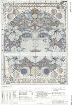 0 point de croix mother moon - cross stitch
