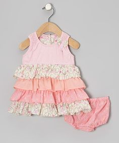 Take a look at this Pink Ruffle Dress & Diaper Cover - Infant & Toddler by Beetlejuice London on #zulily today!