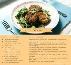 It's Meatless Monday again! If you love Salmon just as much as we do, you will be all over these thai salmon patties.