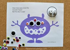Free Printable Monster Counting Game | A fun learning activity for toddlers this Halloween