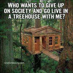 I wish I could be that naked hippy girl that lives in a tree house in the middle of no where!