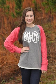 #Monogrammed comfort made to fit. Driving Ms Daisy Sweatshirt - Pink