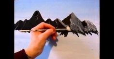3 Easy steps and techniques to paintng a mountain, learning how to paint landscapes, seascapes, if you want to see more of Allison Prior's free Painting and Dr…