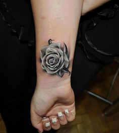 Untitled , one of the most realistic rose tattoos that I've seen
