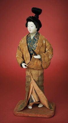 The Carabet Collection of Antique Japanese Dolls: 213 Fine Carved Wooden Art Doll (Sosaku-Ningyo), 1935 Japanese Geisha, Vintage Japanese, Japanese Doll, Hina Dolls, Art Dolls, Asian Doll, Ichimatsu, Wooden Art, Japan Art