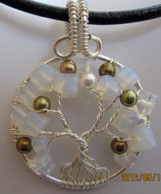 Moonstone & Swarovski Crystal Pearl Tree of by Mariesinspiredwire, $20.00