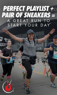 Perfect playlist + Pair of sneakers = A great run to start your day! Great Run, Run Today, Running Inspiration, Running Gear, Race Day, Training Tips, Rock N Roll, Marathon, Peace