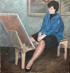 "H Philip Matthews 'Lifeclass; Camberwell, model Jane Seymour.' This is probably the jewel of my Camberwellcollection. Matthews attended the Euston Road and taught at Camberwell for decades. Jane Seymour Hughes née Sewell was a student at the school 1948-52. Great item 34"" x 32"" #art #oilpainting #ual #artschool #art #camberwell #camberwellcollector #canvaspainting #canvas #eustonroadschool #eustonroad #london #londonart"